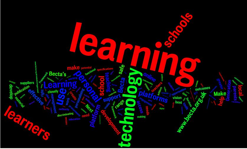 Wordle Sample - BECTA Paper - Make Learning Personal